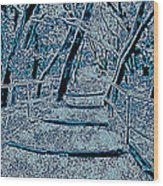 Enchanted Forest In The Winter Wood Print