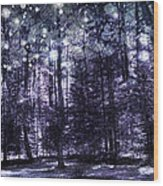Enchanted Plum Forest Wood Print