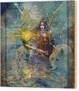 Angel Tarot Card Enchanted Princess Wood Print