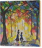 Enchanted Proposal Wood Print
