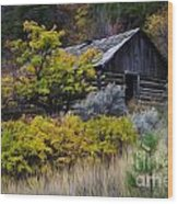 Enchanted Spaces Cabin In The Woods 2 Wood Print