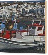 Enchanted Spaces Mykonos Greece 1 Wood Print