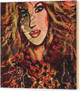 Enchanting Woman Wood Print