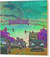 Encinitas California 5d24221p180 Wood Print by Wingsdomain Art and Photography