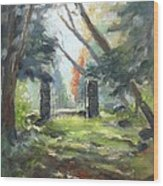 Enclosure Gates Wood Print