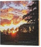 End Of Day In Time Wood Print by Dan Quam