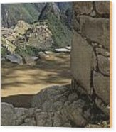 End Of Inca Trail Wood Print