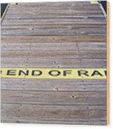 End Of Ramp Wood Print