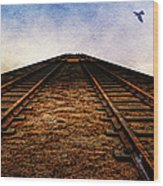 End Of The Line Wood Print