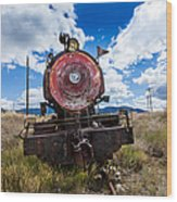 End Of The Line - Steam Locomotive Wood Print