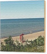 End Of The Season At Wendt Beach Park Wood Print