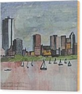 End Of The Workday Wood Print by Sue Melanson