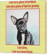 End The Puppy Mills Wood Print