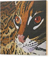 Endangered - Ocelot Wood Print