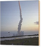 Endeavour Liftoff For Sts-59 Wood Print