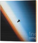 Endeavour Silhouette Sts 130 Wood Print
