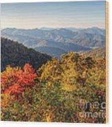 Endless Autumn Mountains Wood Print