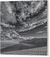 Endless Black And White Wood Print
