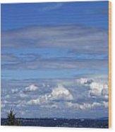 Endless Clouds Wood Print