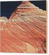 Endless Lines In Sandstone Wood Print