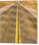 Endless Road Wood Print