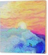 Endless Sea At Sunrise Wood Print