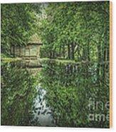 Endless Shades Of Green Wood Print