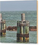Endlessly Staring Out To Sea Wood Print by Wendy J St Christopher