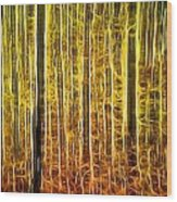 Energy Of The Forest Autumn Color Wood Print