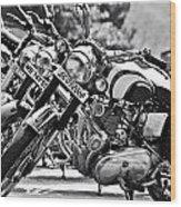 Enfield Motorcycles Wood Print