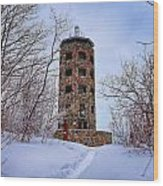 Enger Tower In Winter Wood Print