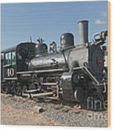 Engine 40 In The Colorado Railroad Museum Wood Print