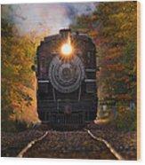 Engine #40 Leaving Essex Wood Print