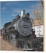 Engine 491 In The Colorado Railroad Museum Wood Print