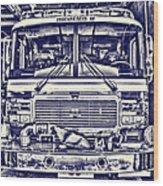 Engine 5 Wood Print