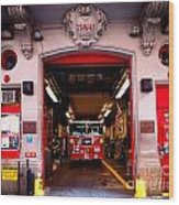 Engine Company 65 Firehouse Midtown Manhattan Wood Print by Amy Cicconi