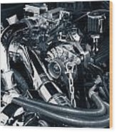 Engine Details Wood Print