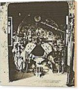 Engine Iron Wood Print