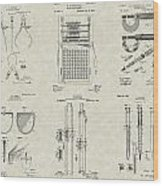 Engineering Tools Patent Collection Wood Print
