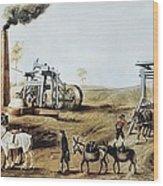 England 18th C.. Industrial Revolution Wood Print