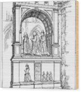 England Church Monument Wood Print