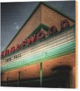 Englewood Theater 4507 Wood Print