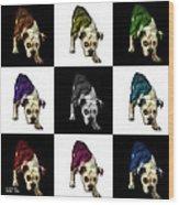 English Bulldog Dog Art - 1368 - V1 - M Wood Print