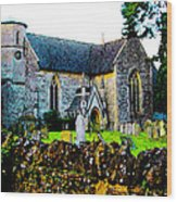 English Churchyard Wood Print