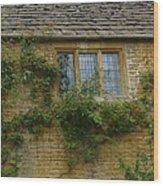 English Cottage Window Wood Print