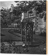 English Country Garden And Mansion - Series II Wood Print