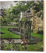 English Country Garden And Mansion - Series IIi. Wood Print