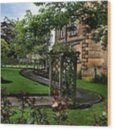 English Country Garden Wood Print