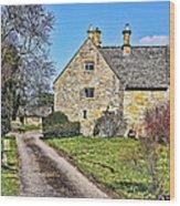English Farmhouse Wood Print