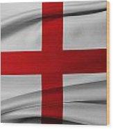 English Flag Wood Print